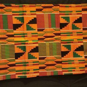 Kente Print Headwrap measures 13 x 70